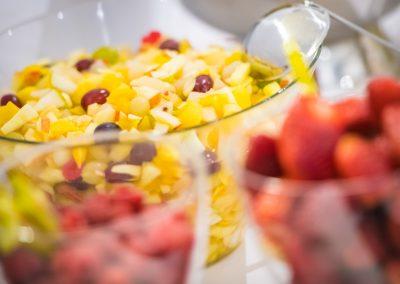 Frisches Obst im Frühstücksbuffet