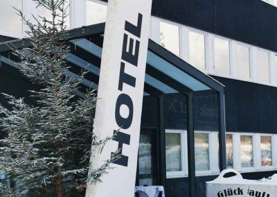 Hotel Fohnsdorf im Winter bei Tag